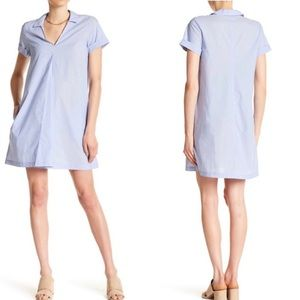 Madewell Light Blue Short Sleeve Swing Dress